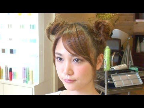 【Hair Tutorial #25】ボリュームたっぷり!ミッキー風の簡単2つお団子ヘアの作り方 Chignon Hairstyle - YouTube