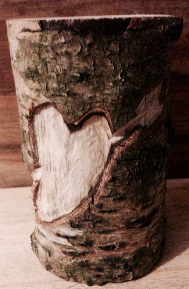 Wooden t light heart