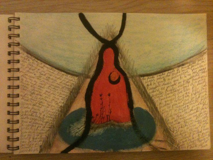 """Mindful"" by #NadirChacin #50dibujos50dias #50Drawings50days #Drawings [Segart, Valencia, 1º diciembre, 2014]"