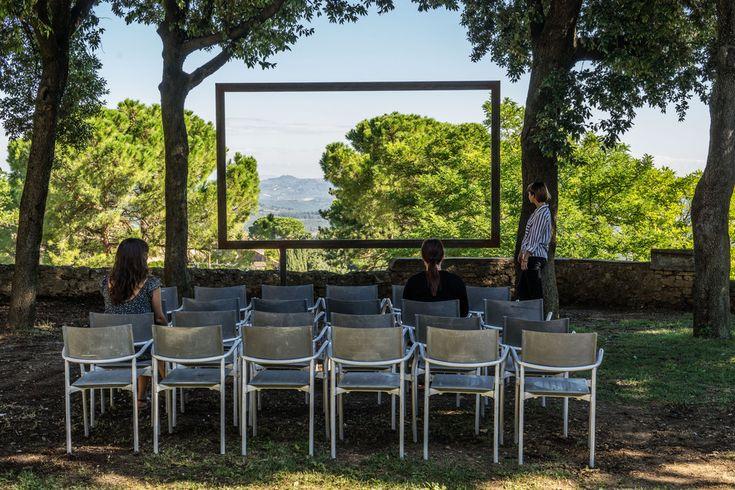 Sislej Xhafa, Cinema Aperto Palestina, 2016, metal. Galleria Continua San Gimignano, 2016. Photo by: Ela Bialkowska.