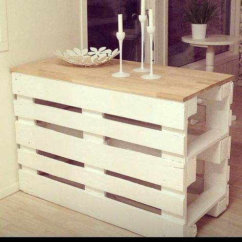 Have fun with drawers and pallets, think about recycling! # recycle #living #living