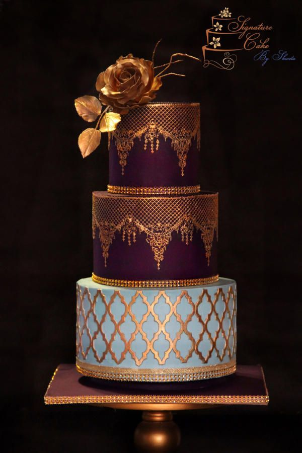 Morroccan Beauty  by Signature Cake By Shweta - http://cakesdecor.com/cakes/261441-morroccan-beauty