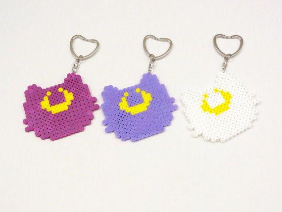 Sailor Moon Luna, Diana, Artemis Cat Perler Keychain by AMisfit