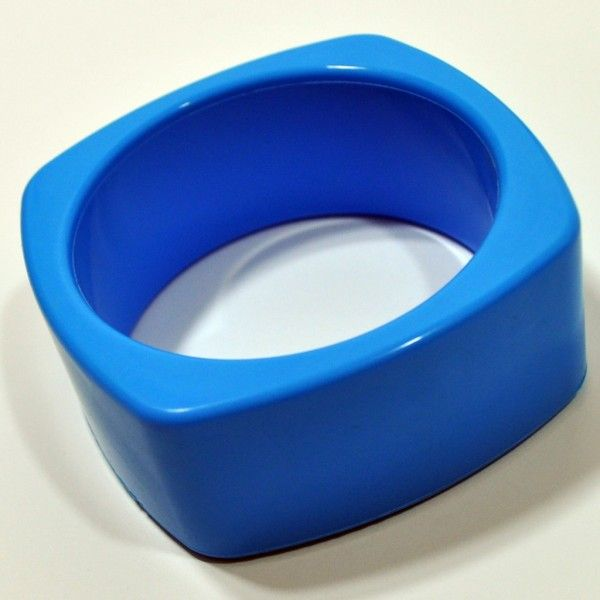 Deep Sky Blue Food Grade Silicon Teething Bangle