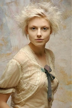 Essensuals - pale and airy..(I love how hair style photos include great outfits too)...