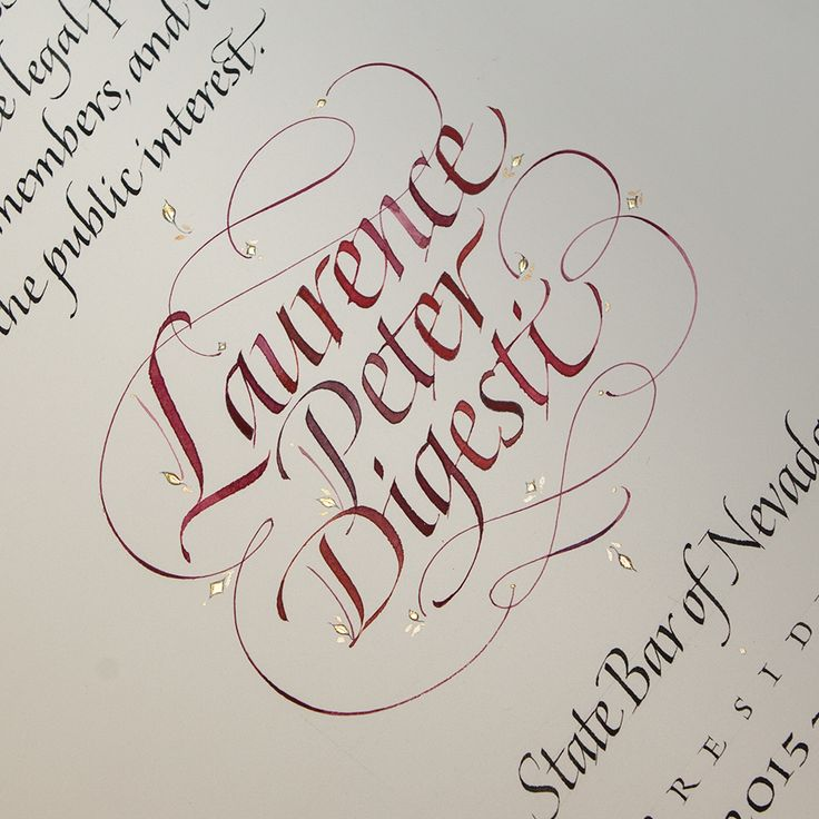 Letterforms and calligraphy projects: a wide variety