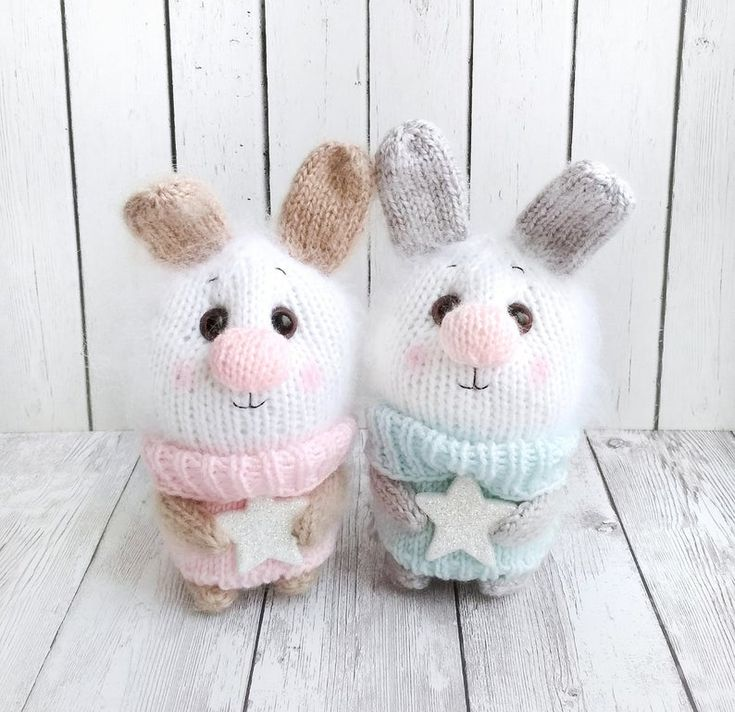 White bunny toy Christmas gift Handmade toy Amigurumi bunny Crochet bunny Rabbit toy Stuffed animal bunny Christmas toys