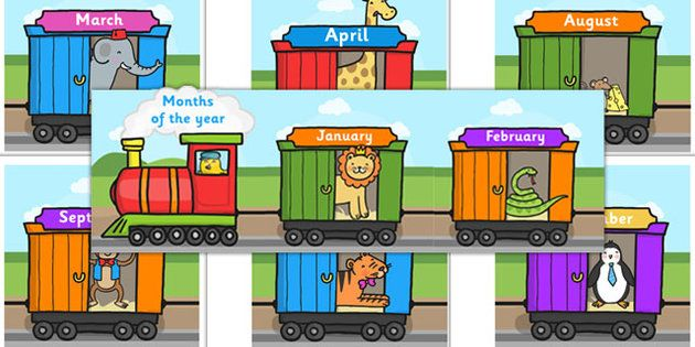 Months of the Year on Train