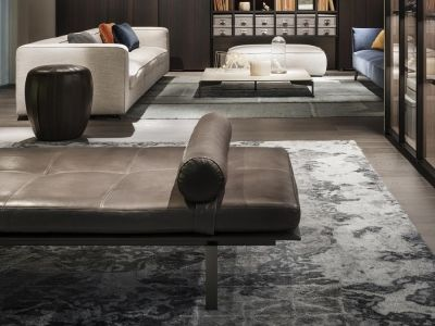 LEMA | Designed by Francesco Rota, the elegant Yard Daybed, also proposed in an elegant leather version with metal lacquered bronze, recall the aesthetic features of the same name sofa re-interpreting the typical creativity of the industrial design of the '60s.