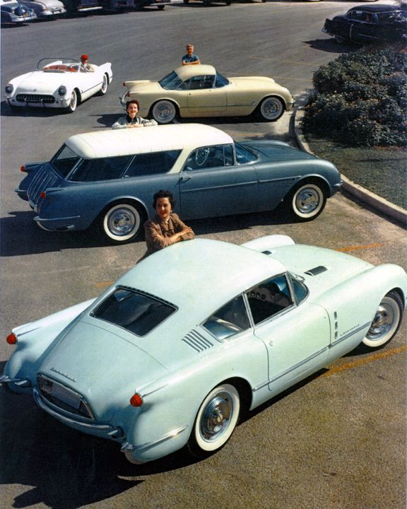 The Chevrolet Corvair concept car made its debut at the #1954 GM #Motorama show in New York City. #Chevrolet1954
