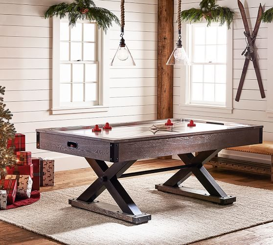 Air Hockey Table Antique Stone Game Room Furniture