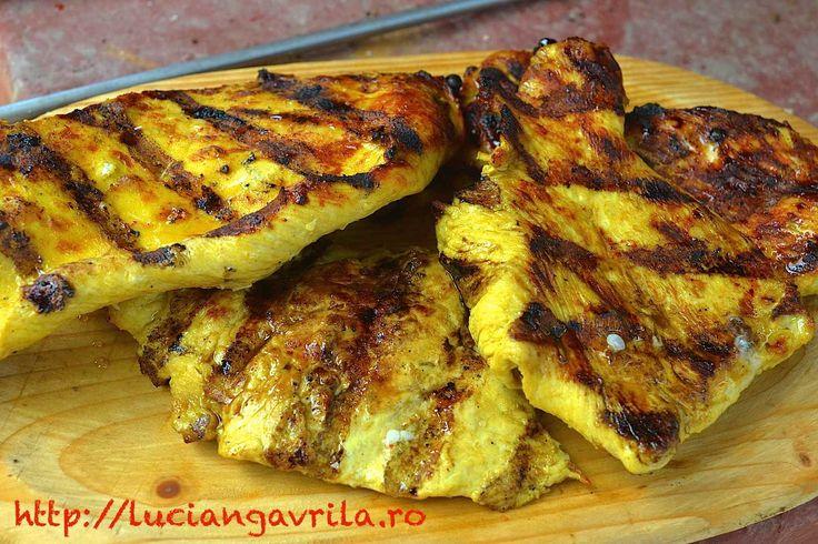 #Marinated than #grilled turkey breast Piept de curcan marinat, la grătar