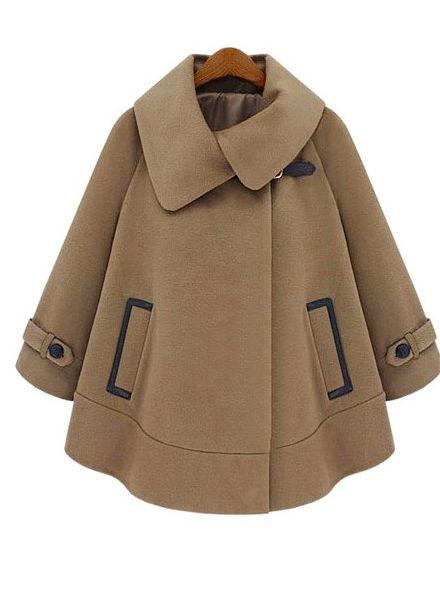 Camel Cloak Fashion Lapel Coats - TideShe.com $89