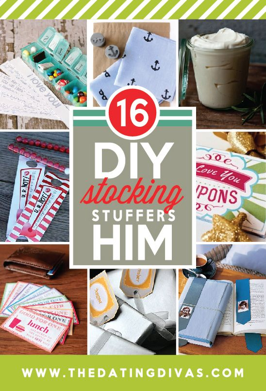 16 DIY Stocking Stuffers for Him!!