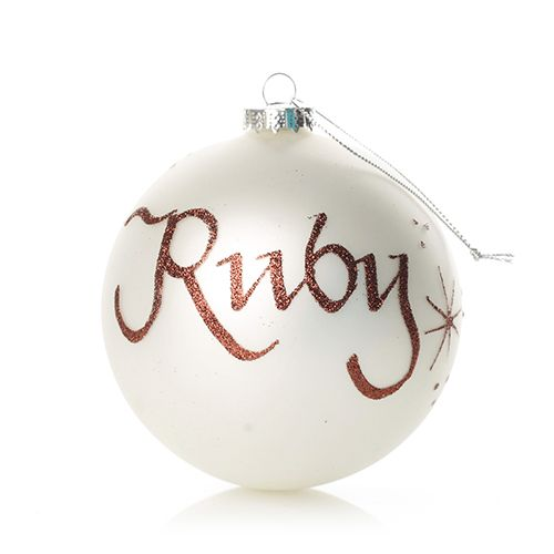 Pearl Glass Personalised Christmas Bauble | The Christmas Cart