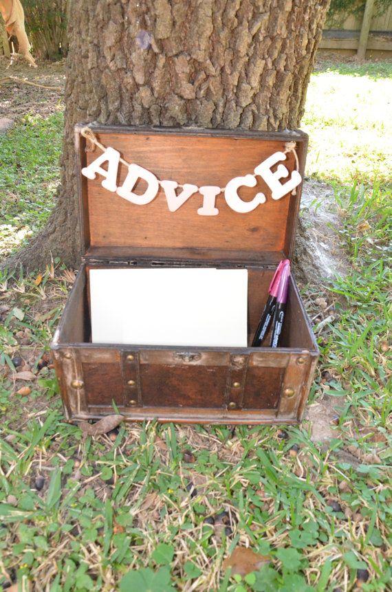 Wedding Advice Box Advice Box Love Box Guest Book by KrashKorner, $55.00