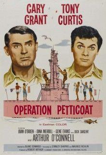 """Операция «Нижняя юбка» (1959) http://hdlava.me/films/operaciya-nizhnyaya-yubka.html  «Операция """"Нижняя юбка""""» (Operation Petticoat) – это комедийная мелодрама на военную тематику. Позади осталась Вторая Мировая Война. Мэтт Шерман, главный герой, теперь прощается со своей подводной лодкой под названием «Морской Тигр». Длительное время именно на ней он был капитаном. Теперь Шерман вспоминает события минувших дней, читая бортовой журнал. На дворе 1941 год, прошло 3 дня после Перл-Харбора. Лодка…"""