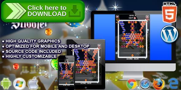 [ThemeForest]Free nulled download Christmas Shooter - HTML5 Game from http://zippyfile.download/f.php?id=40348 Tags: ecommerce, bobble, christmas, christmas game, holiday, holiday game, match, matching, puzzle, puzzle bobble, seasonal, seasonal game, shooter, xmas