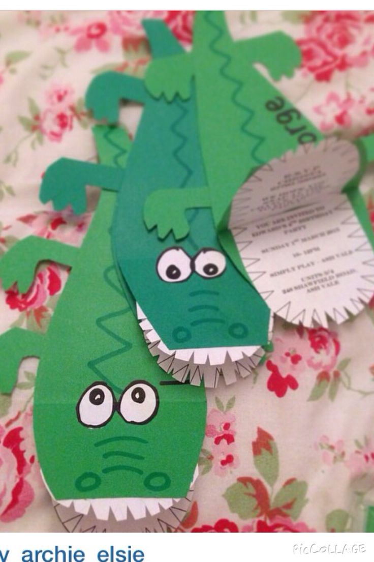 Crocodile party invitations                                                                                                                                                                                 More