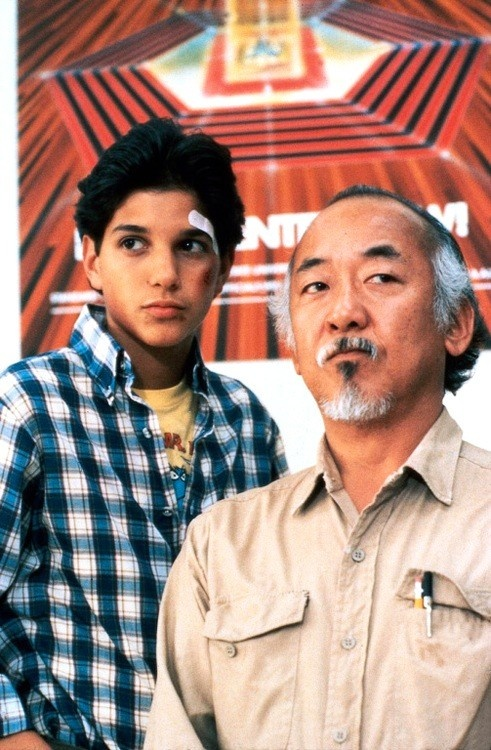 Daniel and Mr. Miyagi (AUTO CORRECT, STOP IT) are the best sort of friends when it comes to learning. Why? Mr. Miyagi was never able to teach anyone Karate (Because his son had died), until Daniel got himself into a mess. Luckily, before Daniel could mess up even more (Sorry, but its the truth XD) Mr. Miyagi taught him the ways of karate.  *The Karate Kid- 1984*