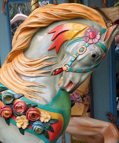 Bryant Park Carousel Horse (detail) - New York City