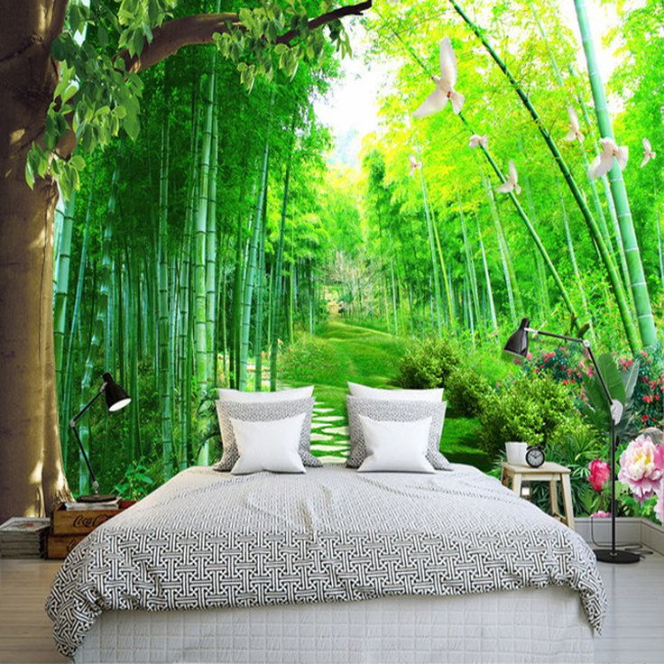 17 best ideas about cheap wallpaper on pinterest wall for Bamboo mural wallpaper