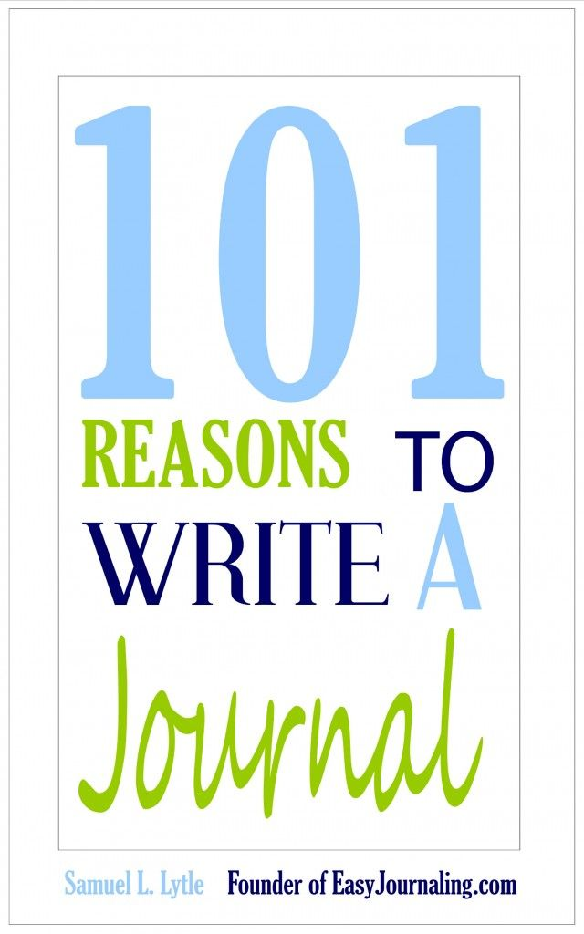 reasons to write a daily journal