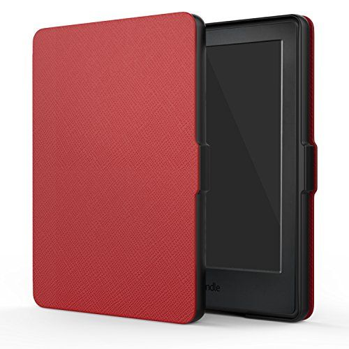 """MoKo Case for All-New Kindle E-reader (8th Generation 2016) - The Thinnest and Lightest SmartShell Cover with Auto Wake/Sleep for Amazon All-New Kindle (6"""" Display 8th Gen 2016 Release) RED"""