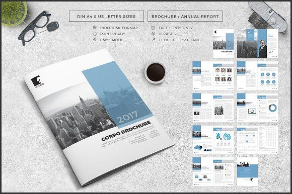 Business Brochure / Annual Report by Studio Designs on @creativemarket