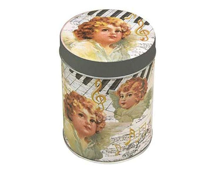 Plåtburk ÄNGLAR vintage 100 g