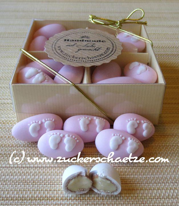 Zuckermandeln Babyf Sse Rosa Zur Taufe Geburt Dekoration