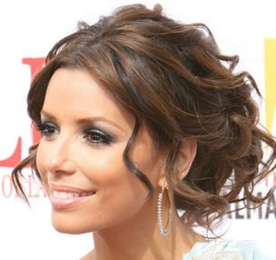 pretty!: Up Dos, Bridesmaid Hair, Long Hair, Girls Hairstyles, Eva Longoria, Hair Style, Soft Curls, Wedding Hairstyles, Updo