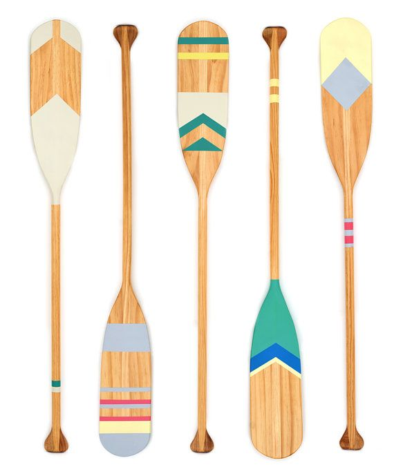 Quarry Painted Wooden Oar by Coastaltrader on Etsy
