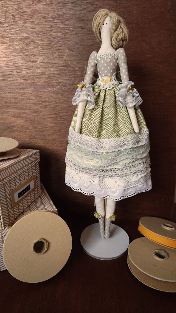 Tilda Doll - Layered lace dress decorated with beads