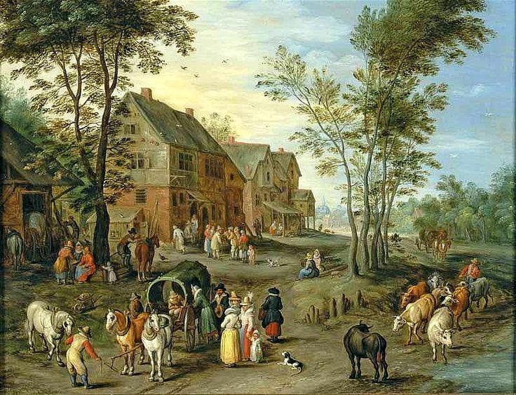 Jan Brueghel de Jonge (1601-1678) Halteplaats bij rivier