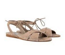 Nashville Beige suede low heel Italian sandals