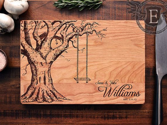 Personalized Cutting Board Custom Engraved Wood Wedding