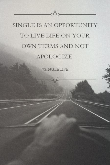 Single is an opportunity to live life on your own terms and not apologize. - #singlelife | 성진 made this with Spoken.ly