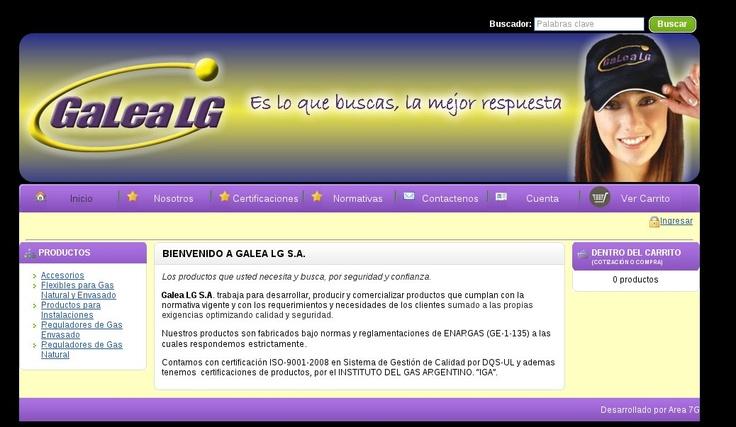 Diseño Web para Empresa Galea LG de Buenos Aires