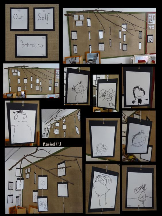 "Self portraits with a felt tip pen from Rachel ("",)"