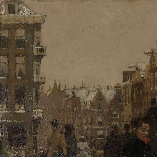 De Singelbrug bij de Paleisstraat te Amsterdam, George Hendrik Breitner, 1896 - winter-Verzameld werk van Eva Riem - Alle Rijksstudio's - Rijksstudio - Rijksmuseum