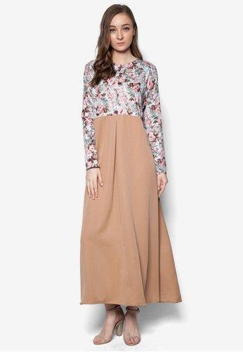 Mysaa Abaya from Zip & Butang in brown_1