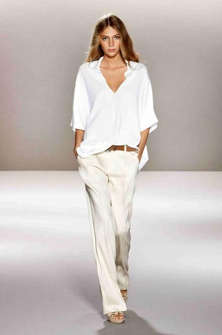 White blouse and pants