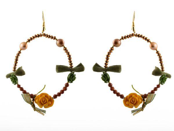 Χειροποίητα ασημένια σκουλαρίκια κρίκοι 925ο με κρύσταλλα, μαργαριτάρια, συνθετικό οπάλιο και χρυσόλιθοι. -   Handmade silver earrings hoops 925o with crystals, fresh water pearls,synthetic opal and chrysolite