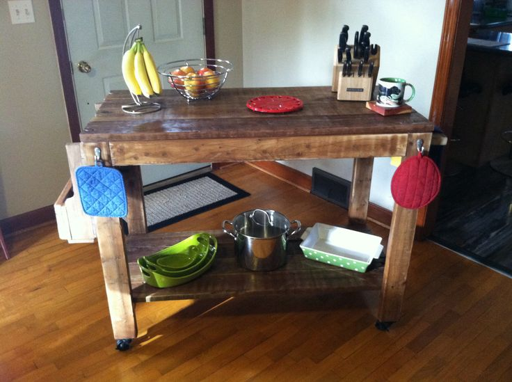 30 best rolling island images on pinterest kitchen islands for the home and home ideas. Black Bedroom Furniture Sets. Home Design Ideas