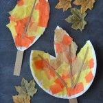 Kağıt tabaktan yaprak nasıl yapılır?