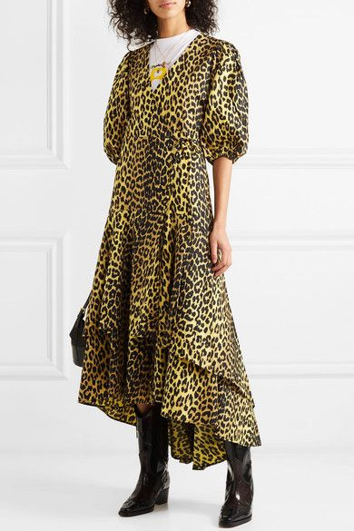 55ed4ba3c2e5 GANNI   Bijou leopard-print cotton-poplin wrap dress   NET-A-PORTER.COM