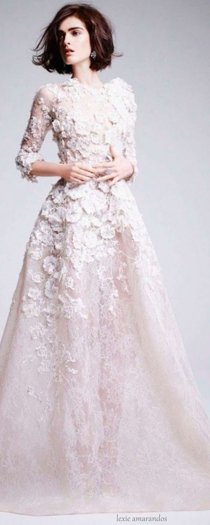 Elie Saab gown via @lexiea2. #gowns #ElieSaab