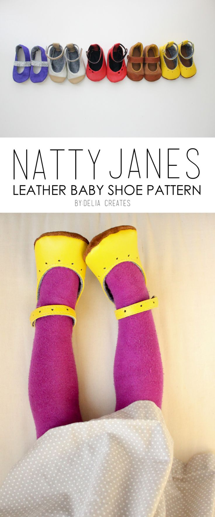 Natty Janes Leather Baby Shoe PDF Pattern by @Delia Aguilar Zuani Aguilar Zuani Aguilar Zuani Creates - these are so adorable!!!