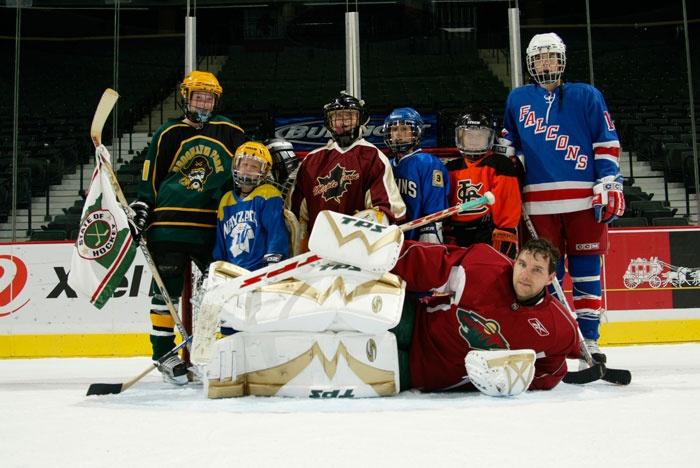 Dwayne Roloson aka Roli the Goalie. #MinnesotaWild Still rocken TPS pads